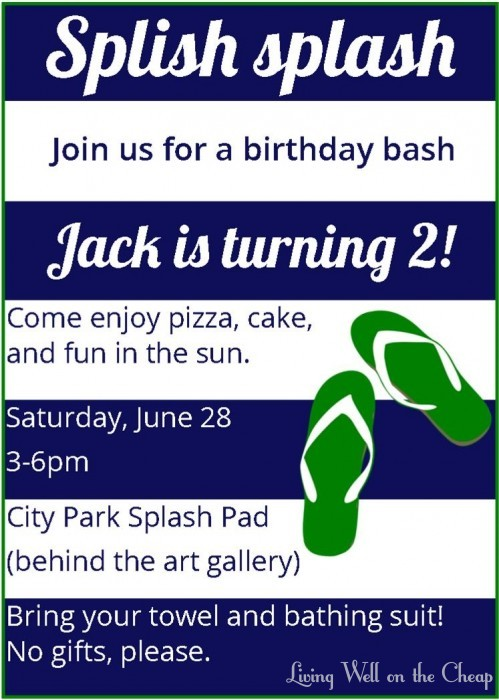 jack 2nd birthday invite